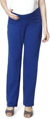 Nine Maternity Wear Regular Fit Womens Blue Trousers
