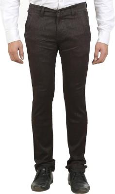 Ethzone Slim Fit Men's Brown Trousers