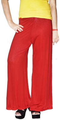 Srija's collection Slim Fit Women's Red Trousers