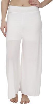 Secret Wish Regular Fit Women's White Trousers