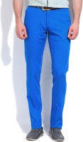Parx Slim Fit Mens Blue Trousers