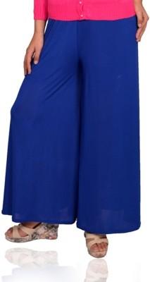 Vama Regular Fit Women's Blue Trousers
