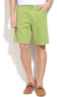 Kenneth Cole Reaction Solid Men's Green Basic Shorts