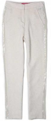 London Fog Slim Fit Girl's White Trousers