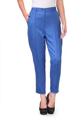 Natty India Slim Fit Women's Blue Trousers