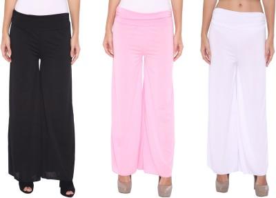 Zadine Regular Fit Women,s Black, Pink, White Trousers