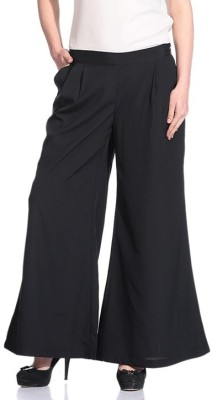 Rute Regular Fit Women's Black Trousers