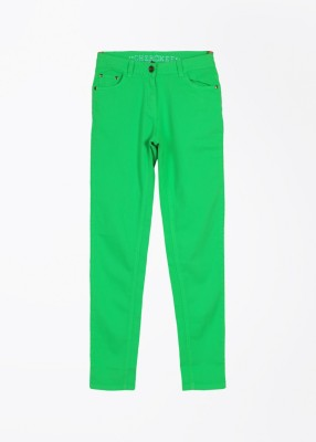 Cherokee Kids Slim Fit Girl,s Green Trousers