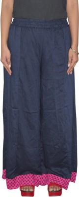 Pezzava Regular Fit Women's Blue, Pink Trousers