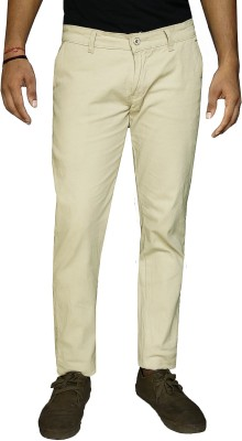 DAMLER Slim Fit Men's Cream Trousers