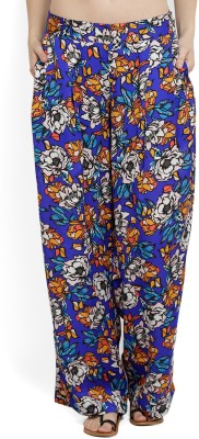 Allen Solly Regular Fit Womens Blue Trousers