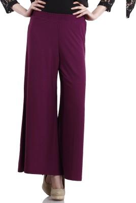 Peptrends Regular Fit Women's Purple Trousers