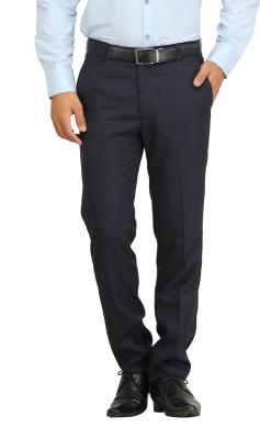 Feels Good Regular Fit Men's Blue Trousers
