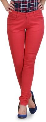 Yepme Slim Fit Women's Pink Trousers at flipkart