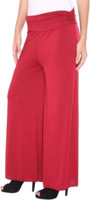 DAMEN MODE Regular Fit Women's Red Trousers