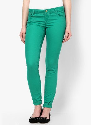 Only Skinny Fit Women's Green Trousers