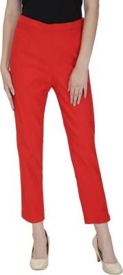 Secret Wish Regular Fit Women's Orange Trousers