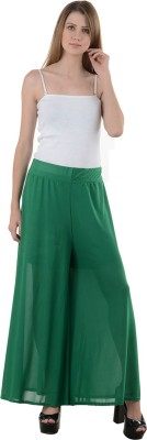 NumBrave Regular Fit Women's Green Trousers