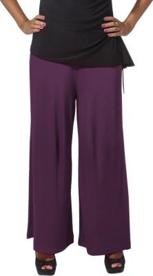 Go Colors Regular Fit Women's Purple Trousers