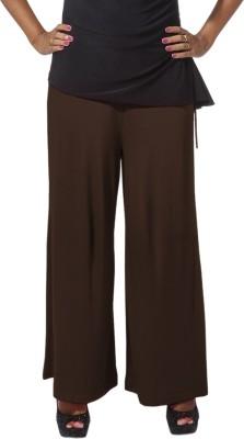 Go Colors Regular Fit Women's Brown Trousers