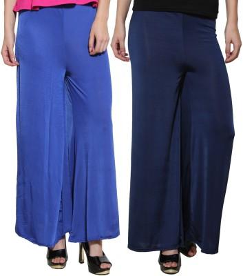 Both11 Regular Fit Women's Dark Blue, Blue Trousers