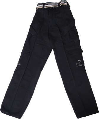 Kidicious Regular Fit Boy's Black Trousers