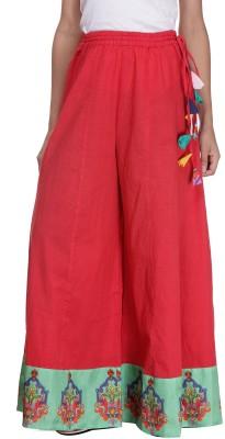 Preeti Tomar Design Studio Regular Fit Women's Red Trousers