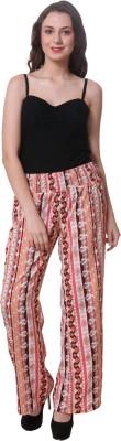 Purys Regular Fit Women's Orange Trousers