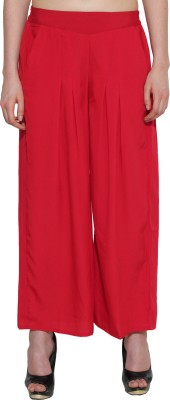 Aurelia Regular Fit Women's Red Trousers