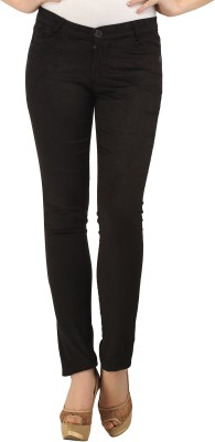 X'Pose Slim Fit Women's Black Trousers at flipkart