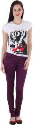 SLS Slim Fit Women's Purple Jeans