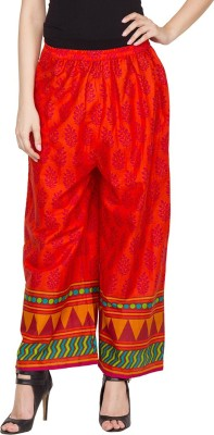 Famous by Payal Kapoor Regular Fit Women's Orange Trousers