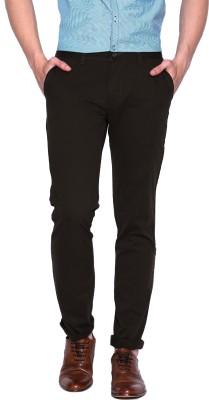 Jhon Diego Slim Fit Men's Brown Trousers