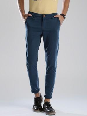 HRX by Hrithik Roshan Regular Fit Men's Blue Trousers