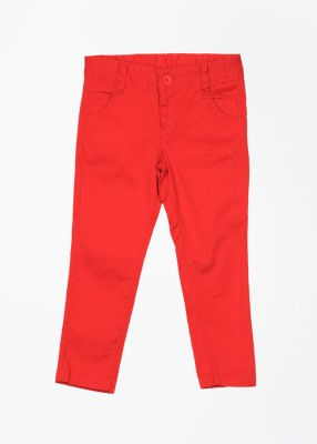 Cherokee Slim Fit Girl's Red Trousers