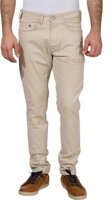 Locomotive Slim Fit Men's Beige Trousers