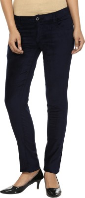 Fashion Cult Slim Fit Women,s Blue Trousers