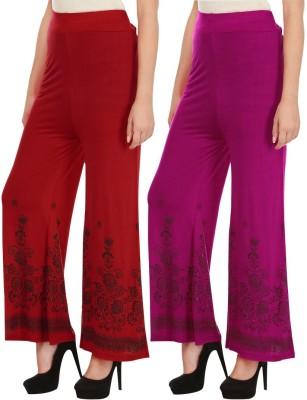 Haniya Regular Fit Womens Red, Pink Trousers