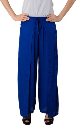 House of Tantrums Regular Fit Women,s Blue Trousers
