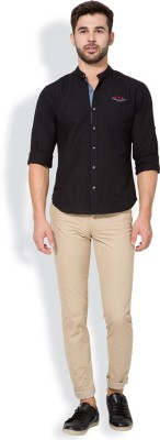 The Indian Garage Co. Slim Fit Men,s Beige Trousers