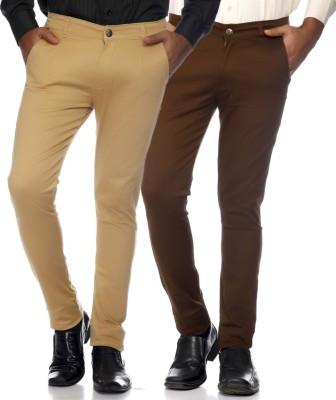 AVE Slim Fit Men's Brown Trousers