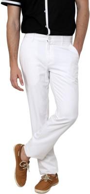 Cotton County Premium Slim Fit Men's White Trousers