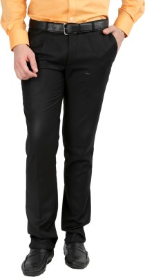 Jhampstead Slim Fit Men's Black Trousers