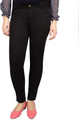 Deewa Slim Fit Women's Black Trousers