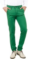 Uber Urban Slim Fit Mens Green Trousers