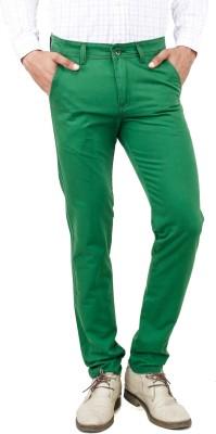 Uber Urban Slim Fit Men's Green Trousers