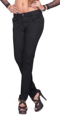 Bombay Slim Fit Women's Black Trousers