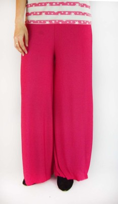 B VOS Regular Fit Women's Pink Trousers