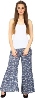 Ethnic Regular Fit Women's Grey Trousers