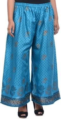 Lavennder Regular Fit Women's Blue Trousers
